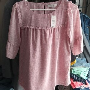 BNWT Loft bell sleeve floral blouse